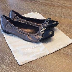 AGL leather cap toe flats!